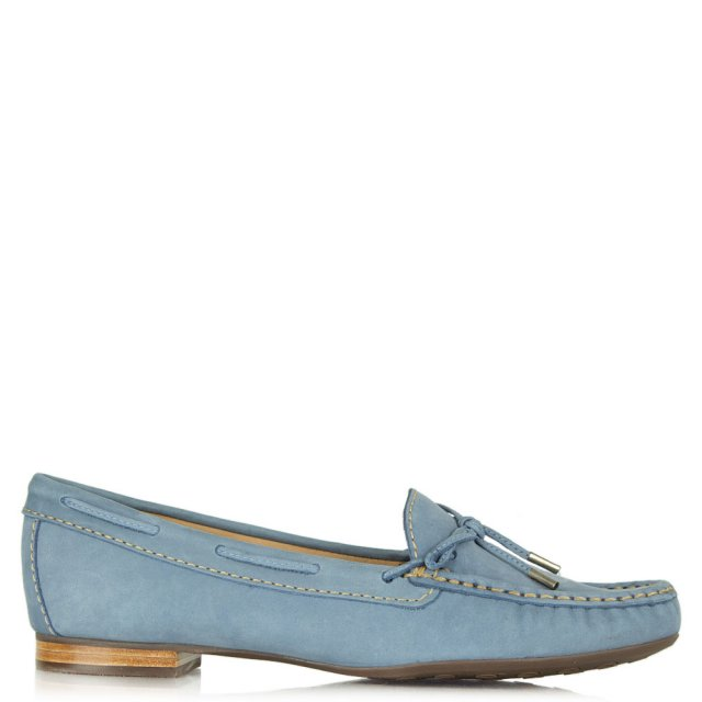 Alexandria Blue Suede Driving Loafer