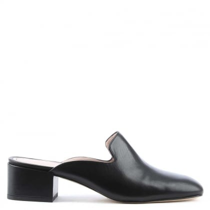 Alfredo Black Leather Slip On Loafer