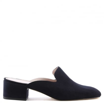 Alfredo Navy Suede Slip On Loafer