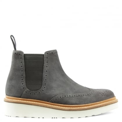 Alice Grey Suede Chelsea Boot