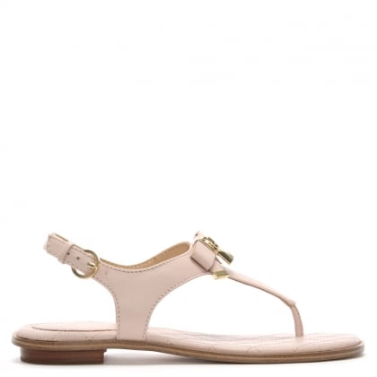 Alice Soft Pink Leather Padlock Sandals