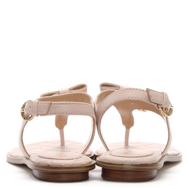 f96091316fdb Michael Kors Alice Soft Pink Leather Padlock Sandals