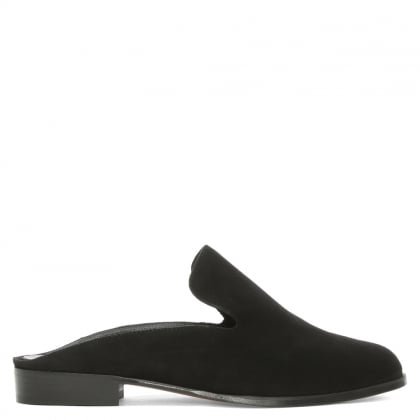 Alicem Black Suede Backless Mule