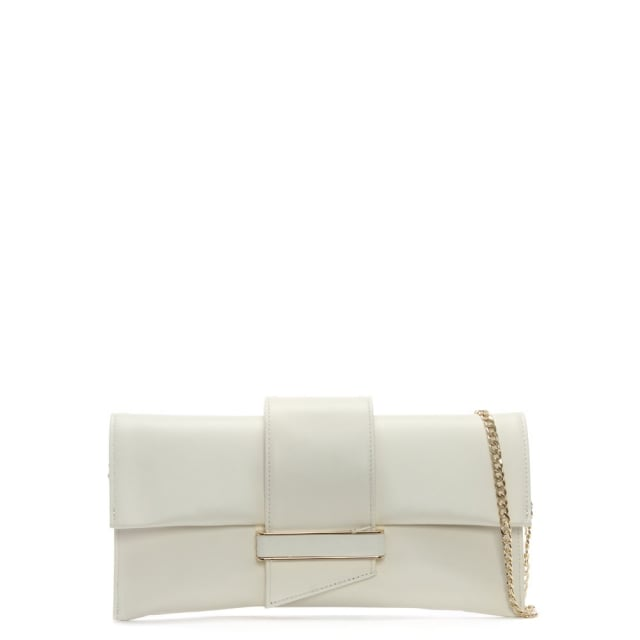 Alike Beige Leather Envelope Clutch Bag