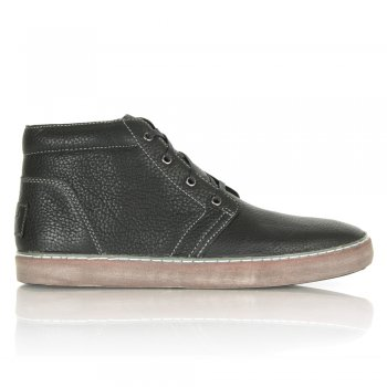 Alin Waxed Pebbled Leather Men's Trainer