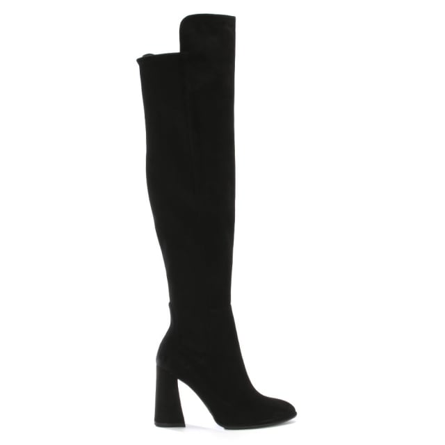 Allhyped Black Suede Over The Knee Boots