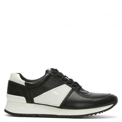 Allie Black & White Patent Sporty Trainer