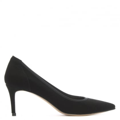 Aloise Black Suede Court Shoes