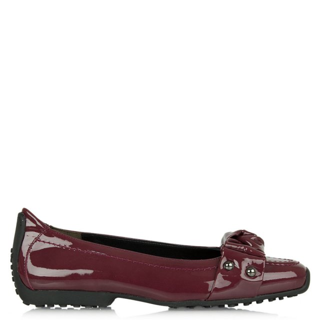 Ametsa Burgundy Patent Knotted Front Pump