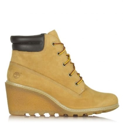 Amston Wedge Wheat Leather Ankle Boot