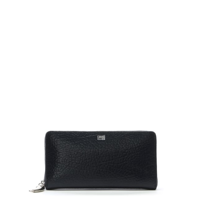Amulet Navy Textured Zip Around Wallet
