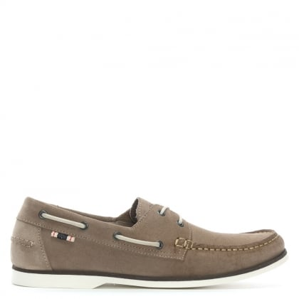 Anchor Beige Suede Deck Shoes
