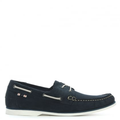Anchor Navy Suede Deck Shoes
