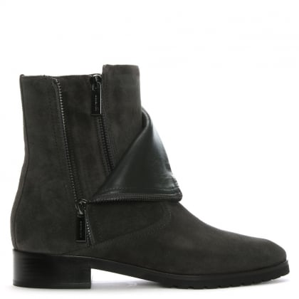 Andi Charcoal Suede Ankle Boots