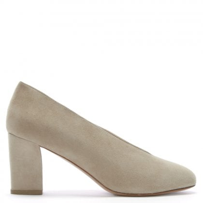 Aneso Beige Suede V Front Court Shoes