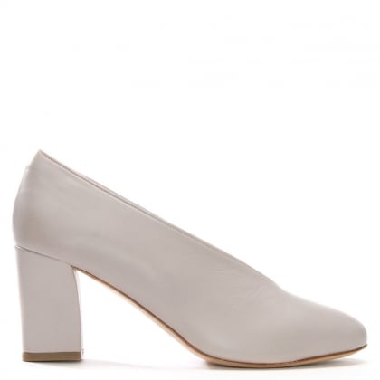 Aneso Pink Leather V Front Court Shoes