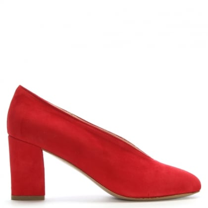 Aneso Red Suede V Front Court Shoes