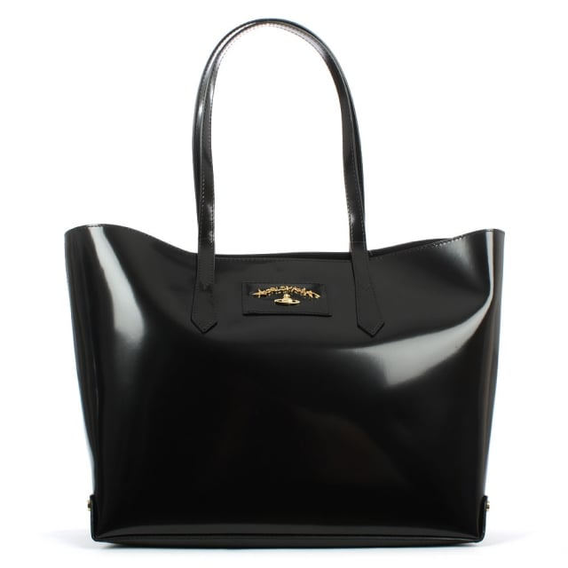 Anglomania Newcastle Black Leather Shopper