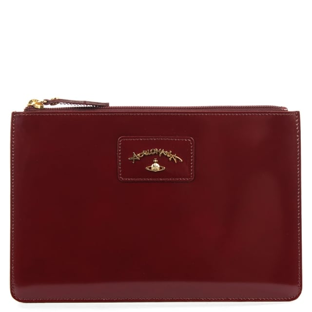Anglomania Newcastle Burgundy Leather Pouch