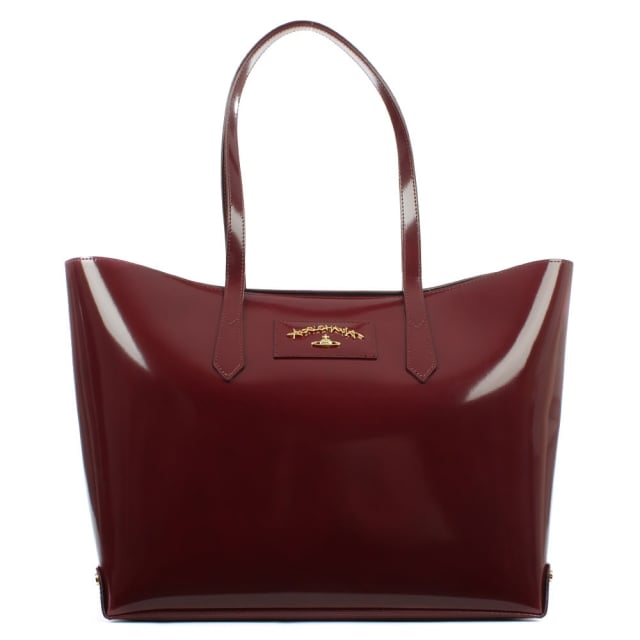 Anglomania Newcastle Burgundy Leather Shopper
