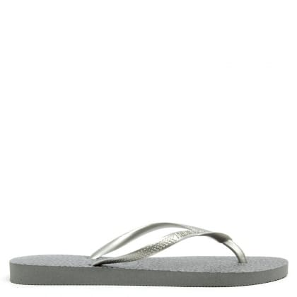 Animals Grey Leopard Print Toe Post Sandal