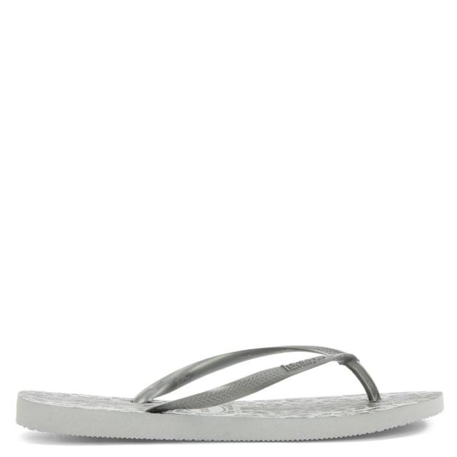 animals silver metallic leopard toe post flip flop