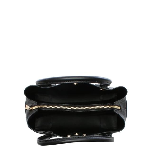0555201d1c5c Michael Kors Annie Medium Black Pebbled Leather Tote Bag