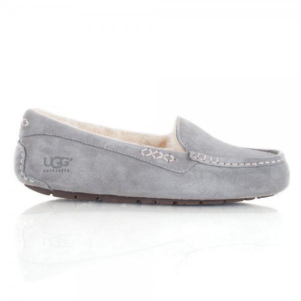 a78e1176b UGG Australia Ansley Grey Women s Moccasin Slipper
