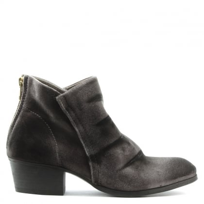 Hudson Apisi Grey Velvet Ankle Boot