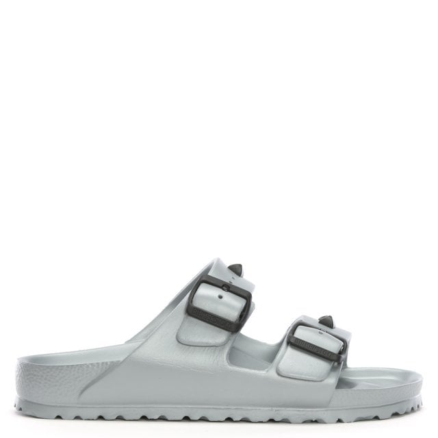 Arizona Silver Jelly Studded Two Bar Mules