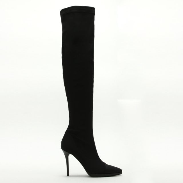 8b045f4c90c Daniel Arla Black Stretch Over The Knee Boots