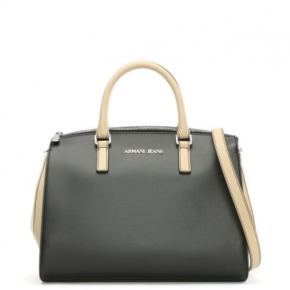 Asburgo Maria Black Contrast Day Bag