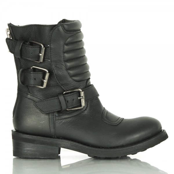 753f11c0cbcab Ash Triumph Quilted Leather Buckle Boot