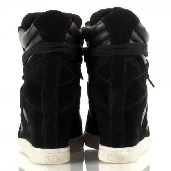 bda5b4b6efcb COOLBIS Black Suede Womens Wedge Trainer - Women from Daniel Footwear UK