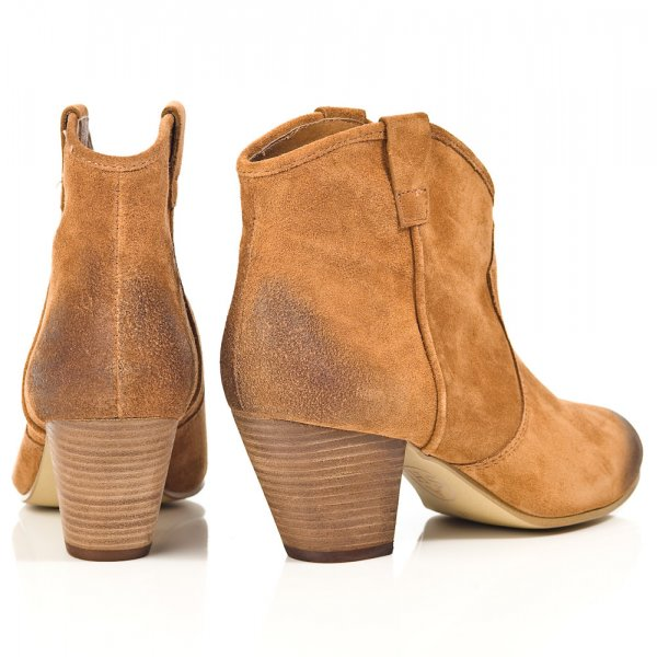 JALOUSE Camel Tan Suede Womens Ankle Boot - Boots from Daniel ... c1f2ff1d0f