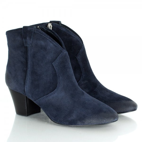 10406703444 Ash Ash Spiral Navy Suede Women's Ankle Boot