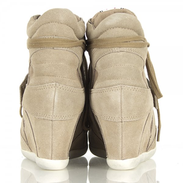 31d9d4feb22ea Taupe   Clay Bowie Women  039 s High Top Wedge Trainer