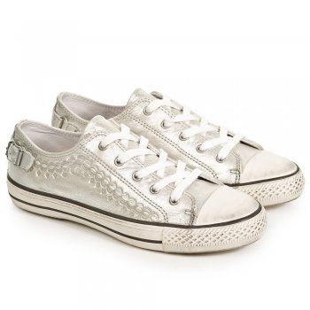 Virgo Silver Metallic Womens Trainer