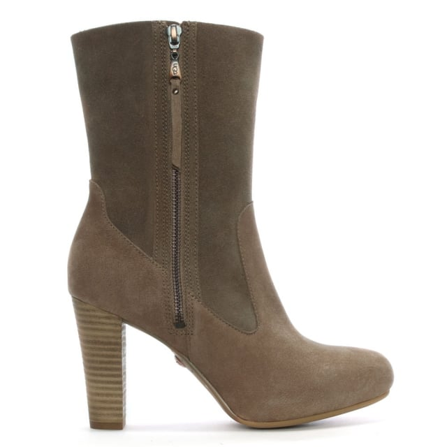 Athena Caramel Suede Mid Boot
