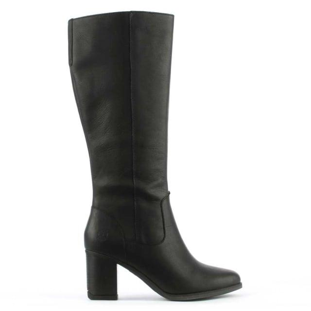 Atlantic Black Leather Knee High Boot