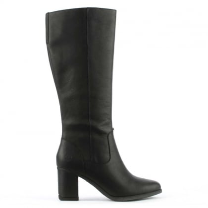 Atlantic Black Leather Knee High Boot