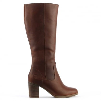 Atlantic Brown Leather Knee High Boot