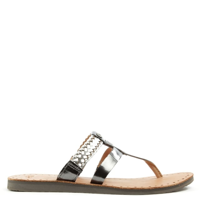Ugg Audra Sterling Leather Toe Post Flip Flop