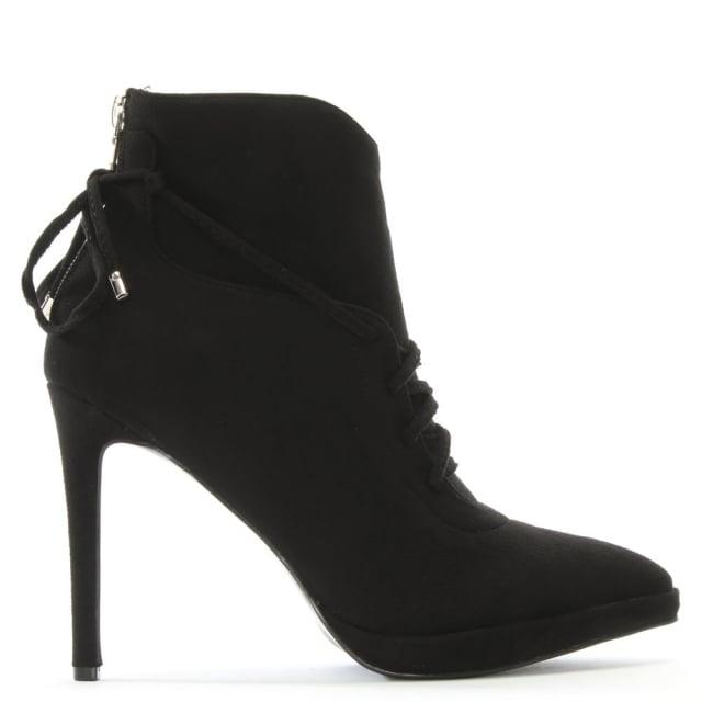 DF By Daniel Aughton Black Suedette Ankle Boots