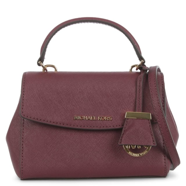 Ava Mini Plum Leather Cross-Body Bag