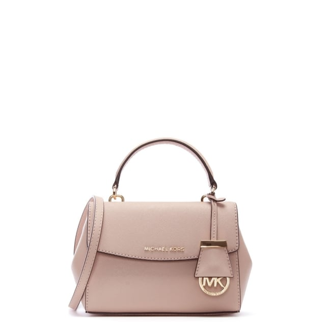 e4f76c449043 Michael Kors Ava Mini Soft Pink Leather Cross-Body Bag