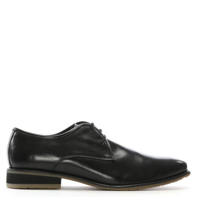 Axminster Black Leather Ombre Toe Lace Up Shoes