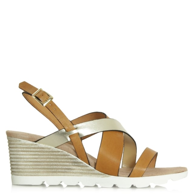 Aycliffe Tan Mid Wedge Sandal