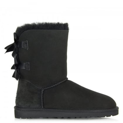 UGG Bailey Bow Black Suede Boot