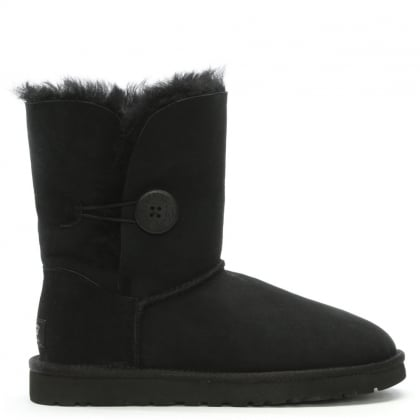 Bailey Button Black Women's Flat Calf Boot